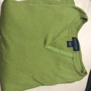 Ann Taylor Long sleeve olive green shirt